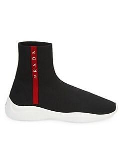 a66ad0761649 QUICK VIEW. Prada. Logo Sock Sneakers