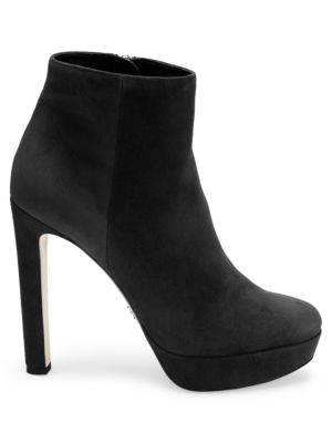 Soft Suede Platform Bootie in Black