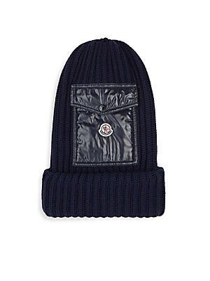 9a4a9f69816 Moncler - Berretto Wool Pocket Beanie - saks.com