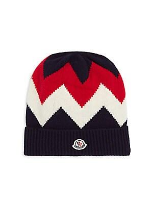 Moncler - Striped Brim Virgin Wool Beanie - saks.com a1768c6d58d0