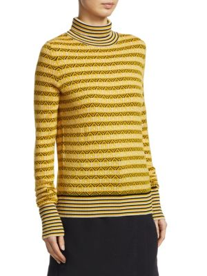 CARVEN Wools Textured Turtleneck Pullover