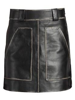 f406087ffd14 Prada. Vintage Leather Mini Skirt