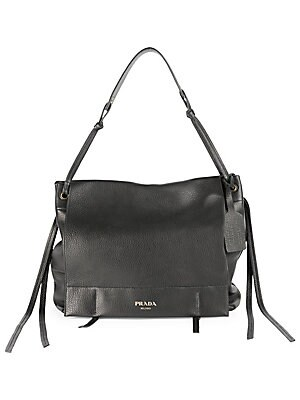 650193be33ef Prada - Cervo Leather Shoulder Bag - saks.com