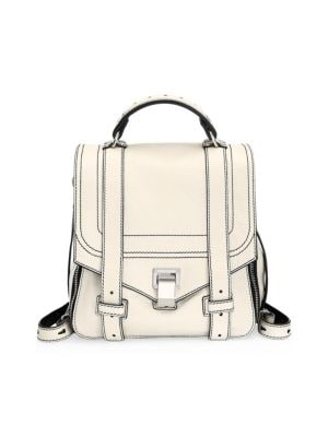 Ps1 Leather Convertible Backpack - Ivory in Cream
