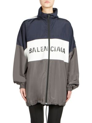 Oversized Logo Track Jacket by Balenciaga