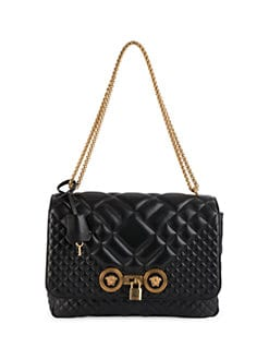 4a97632e33 Versace. Small Quilted Icon Shoulder Bag