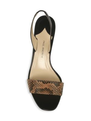 PAUL ANDREW Leathers Longo Leather Slingback Sandals