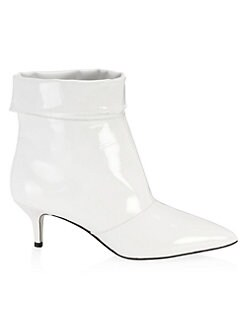 PAUL ANDREW Patent Leather Cuffed Bootie Fltzyu
