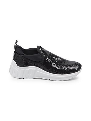 e7a453f672b9 Miu Miu - Sequin Pull-On Sneakers - saks.com