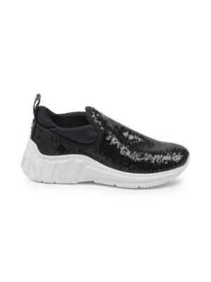 Sequin Pull On Sneakers by Miu Miu