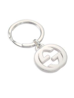 d1947a10 Gucci - Sterling Silver Interlocking Key Ring - saks.com