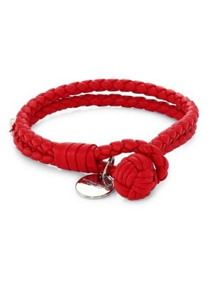 Bottega Veneta Bracelets Leather Knot Logo Bracelet