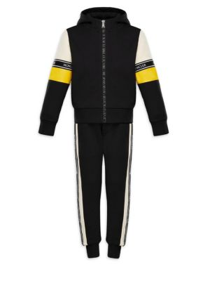 Little Boys  Boys TwoPiece Cotton Hooded Jacket and Track Pants Set