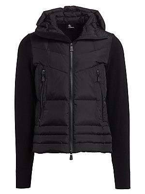 a9c6d899c Moncler - Hooded Fleece Down Jacket - saks.com