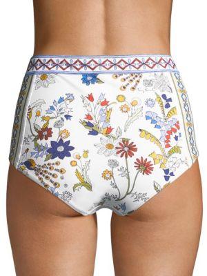 TORY BURCH Bikinis Meadow Folly High-Waist Bikini Bottom