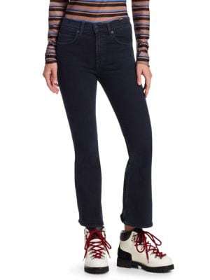 Proenza Schouler Pswl Cropped Flare Jeans