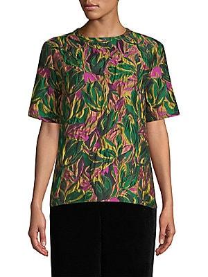 840ed7468d2f3 Etro - Citron Floral Brocade Top - saks.com