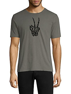 82ef9332 John Varvatos Star U.S.A. - Skeleton Peace Sign Graphic Tee - saks.com