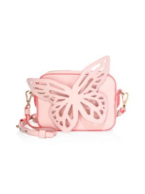 Flossy Butterfly Leather Camera Bag by Sophia Webster