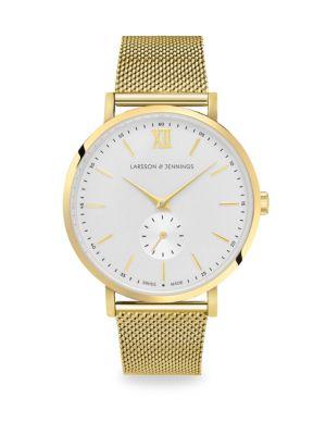 Lugano Jura Goldtone Bracelet Watch, Yellow Gold