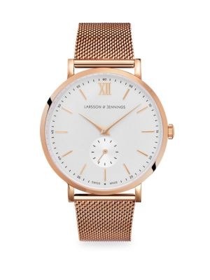 LARSSON & JENNINGS Lugano Jura Rose Goldtone Bracelet Watch