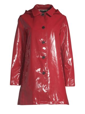 JANE POST Iconic Slicker Jacket in Classic Red