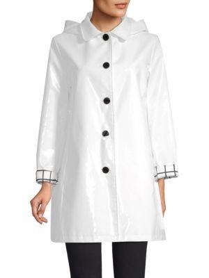 JANE POST Iconic Slicker Rain Coat in White