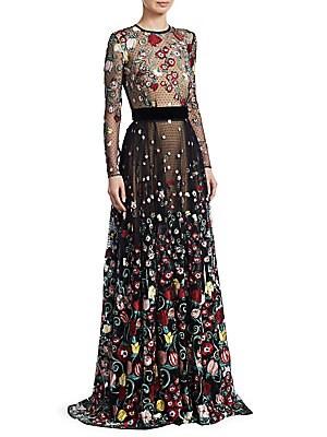96790cb3968 Zuhair Murad - Hibiscus Sequins Column Gown - saks.com