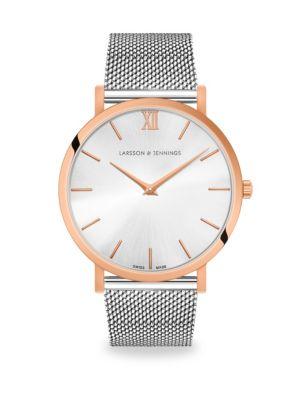 LARSSON & JENNINGS Lugano Solaris Two-Tone Bracelet Watch in Silver
