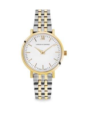Lugano Aurora Two-Tone Bracelet Watch in Silver