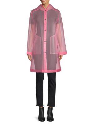 JANE POST Hooded Light Jacket in Pastel Pink