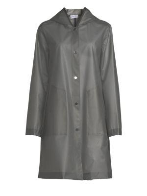 JANE POST Hooded Light Jacket in Smoke