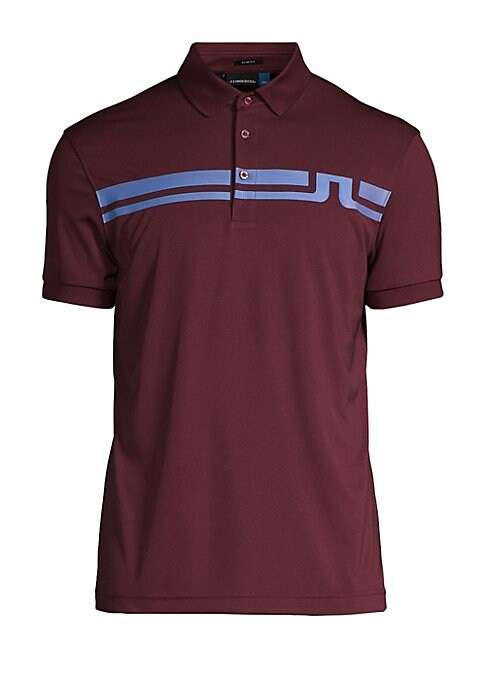 "Image of Quick-dry polo fronted with a bold logo graphic. Polo collar. Short sleeves. Ribbed neck and cuffs. Three-button placket. About 27"" from shoulder to hem. Polyester. Machine wash. Imported."