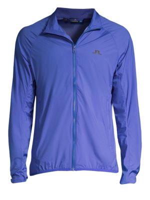 J. LINDEBERG Golf Yoko Trusty Windjacket in Silent Blue