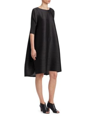 Stratum Bounce Trapeze Dress by Pleats Please Issey Miyake