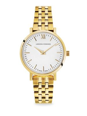 LARSSON & JENNINGS Lugano 26Mm Yellow Gold Bracelet Watch