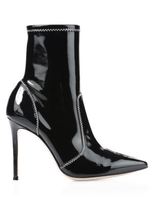Vinyl Mid Calf Boots by Gianvito Rossi