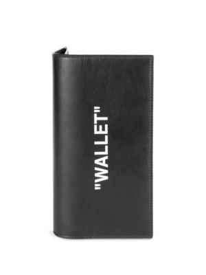 Leather Quote Bi Fold Wallet by Off White