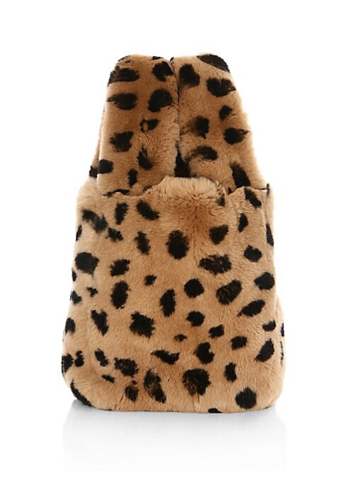 "Image of From the Saks IT LIST. ANIMAL INSTINCTS. See spots everywhere. Wild prints like leopard pair back to everything. Plush fur bag of adorable proportions. Double top handles, 7"" drop. Open top. Lined.10""W x 12""H x 3.5""D.Rabbit fur. Fur type: Dyed rabbit fur."