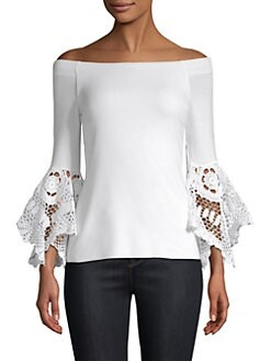 Bailey 44 Woman Ominous Stranger Off-the-shoulder Cotton-blend Poplin Top White Size M Bailey 44 Affordable For Sale zU7vH