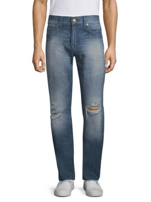 True Religion Geno Distressed Straight Jeans