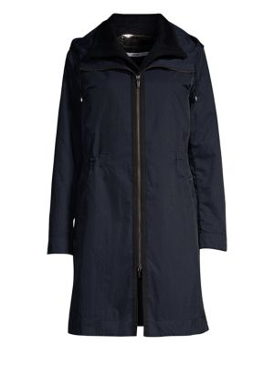 JANE POST Loro Piana Cashmere Reversible Three-In-One Double Coat in Navy