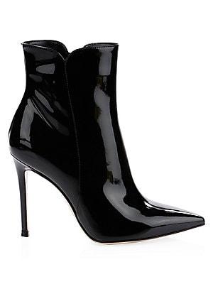 Gianvito Rossi - Patent Leather Block Heel Booties - saks.com 8df29c59eb69