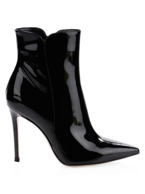 Patent Leather High Heel Booties by Gianvito Rossi