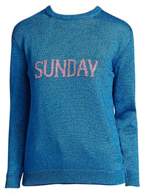 ALBERTA FERRETTI Rainbow Week Capsule Days Of The Week Sunday Sweater in Blue