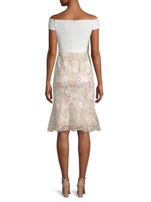 LAUNDRY BY SHELLI SEGAL Dresses Embroidery Flounce Dress