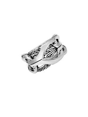 JOHN HARDY Sterling Silver Classic Chain Interlocking Link Ring