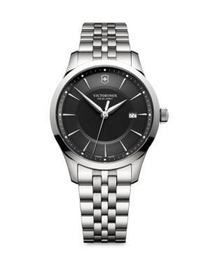 VICTORINOX SWISS ARMY Alliance Stainless Steel Bracelet Watch in Black