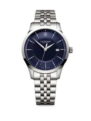 VICTORINOX SWISS ARMY Alliance Stainless Steel Round Bracelet Watch in Blue