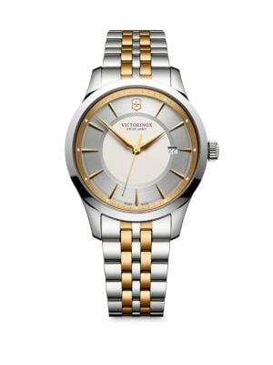 VICTORINOX SWISS ARMY Alliance Two-Tone Stainless Steel Bracelet Watch in Nocolor